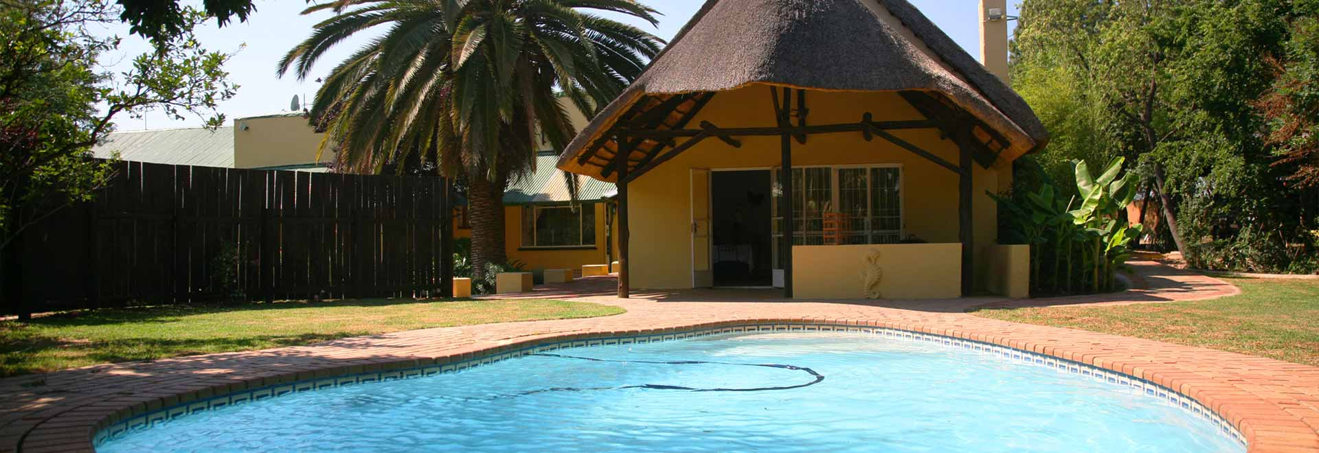 Lanseria Lodge accommodation and pool